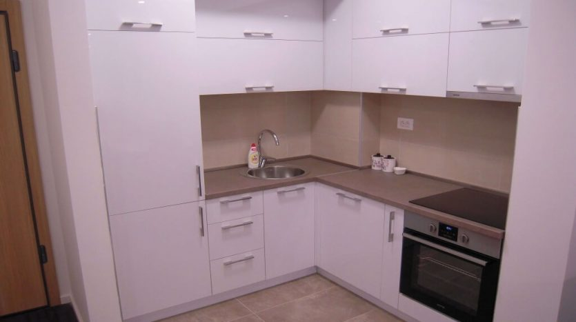 Fully equipped kitchen in a brand new luxury flat in Podgorica